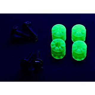 LAMPTRON 4x Schraube + Gummi Unterlegscheibe UV grün Montage Kit für Festplatten (LAMP-RS7004)
