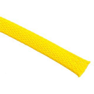 (€4,90*/1m) King Kits 1.00m Gewebeschlauch 9mm Neon Gelb