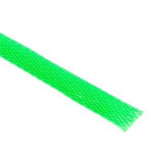 (€4,90*/1m) King Kits 1.00m Gewebeschlauch 9mm Neon Grün