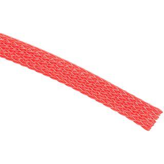(€3,90*/1m) King Kits 1.00m Gewebeschlauch 6mm Rot