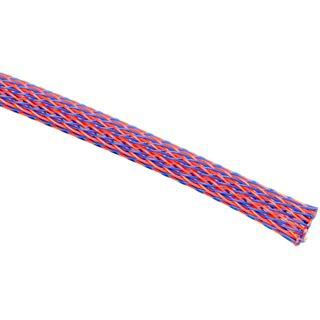 (€3,90*/1m) King Kits 1.00m Gewebeschlauch 6mm Blau/Rot