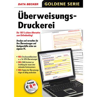 Data Becker Ueberweisungsdruckerei 32 Bit Deutsch Office Lizenz PC (CD)