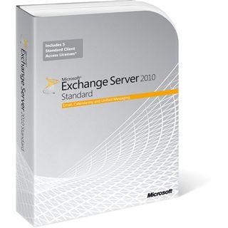 Microsoft Exchange Server 2010 64 Bit Deutsch Zusatzlizenzen inkl. 5 CALs