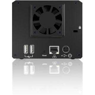 "Icy Box RaidSonic IB-NAS5220 NAS System für 2x3,5"" SATA II HDD Schwarz"