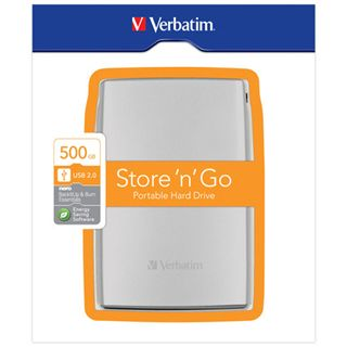 "500GB Verbatim Store and Go Portable 53002 2.5"" (6.4cm) USB 2.0 silber"