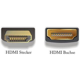 Delock Adapter HDMI Stecker > HDMI Buchse 90°loben