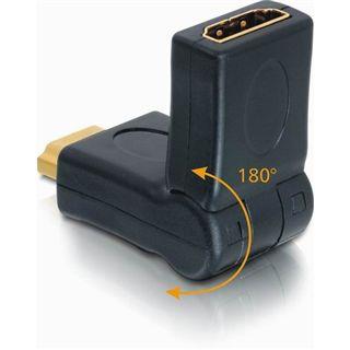 Delock Adapter HDMI Stecker > Buchse 180° drehbar