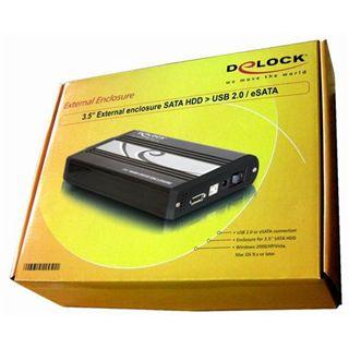 """Delock 42451 3.5"""" (8,89cm) eSATA/USB 2.0 schwarz"""