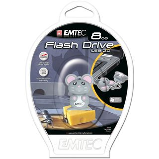 2 GB EMTEC Animals M312 Mouse grau USB 2.0
