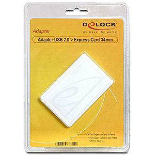DeLock Adapter USB 2.0 > Express Card 34 mm, 61714