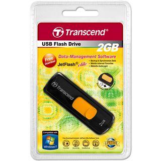 2 GB Transcend JetFlash 500 schwarz USB 2.0