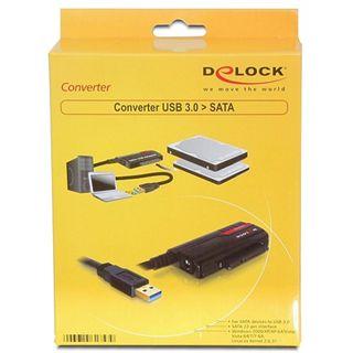 """Delock USB 3.0 SATA Konverter für 2.5"""" und 3.5"""" Festplatten (61757)"""
