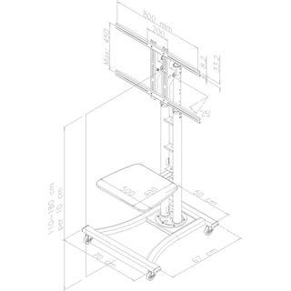 NewStar M Zub LCD-Wagen PLASMA-M1800E / 27-60 / N