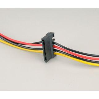 Akasa Stromadapter 4-Pol Molex an 2x SATA