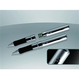 2 GB Technaxx VIP Video Interview Pen silber USB 2.0