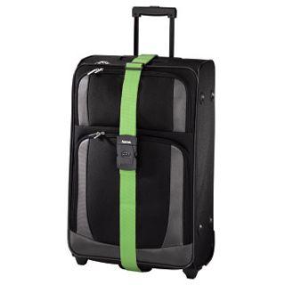 Hama Gepäckgurt mit Zahlenschloss, 5x200 cm, Grün