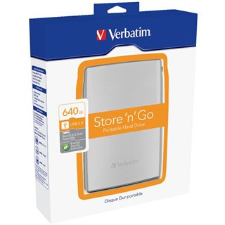 "640GB Verbatim Store and Go Portable 53003 2.5"" (6.4cm) USB 2.0 silber"