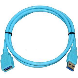 Lian Li PW-IOU3 USB 3.0 Kabel - cyan, 1m
