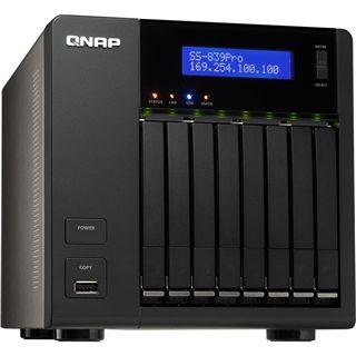 QNAP Turbo Station SS-839 Pro, 2x Gb LAN schwarz