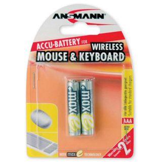 "Ansmann MaxE ""Wireless Mouse & Keyboard"" NiMH-Akku, Micro (AAA), 800 mAh, 2er Pack (5035503)"