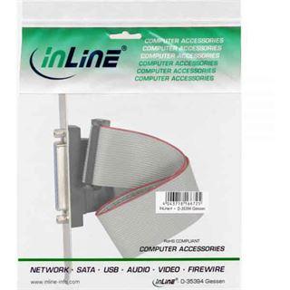 InLine Slotblech Parallel mit 25pol Sub D Buchse an 26-pin Buchsenleiste 0,5m