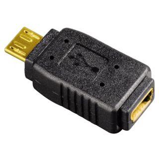 Hama USB-Kompaktadapter Micro-USB-Stecker - Mini-USB-Kupplung