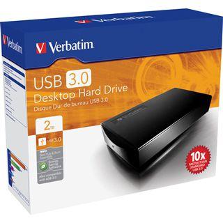 "HDE 2000GB Verbatim Desktop Hard Drive 3.5"" (8.89cm) Schwarz USB3.0"