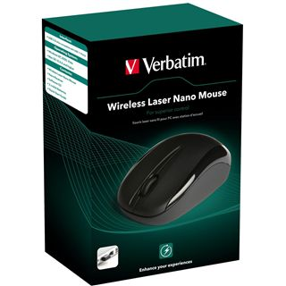 Verbatim Wireless Mouse Nano Laser Maus Schwarz USB