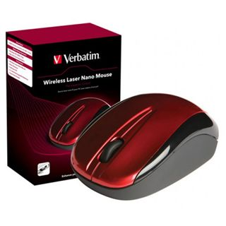 Verbatim Wireless Mouse Nano Laser Maus Rot USB