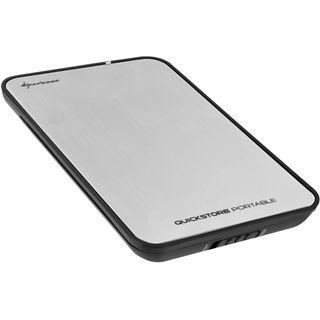 "2.5"" (6,35cm) Shark Sharkoon QuickStore portable SATA USB 3.0 Silber"