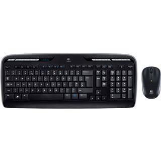 Logitech Cordless Desktop MK320 Tastatur+Maus Schwarz Deutsch USB