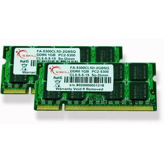 4GB G.Skill SQ Series DDR2-667 SO-DIMM CL5 Dual Kit