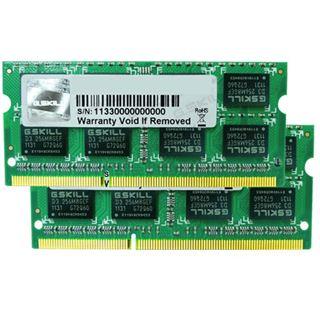 8GB G.Skill Standard DDR3-1333 SO-DIMM CL9 Dual Kit