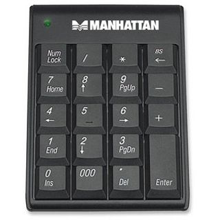 Manhattan Nummeric Keypad Hub Schwarz USB