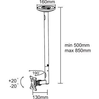Newstar FPMA-C50BLACK Deckenhalterung schwarz