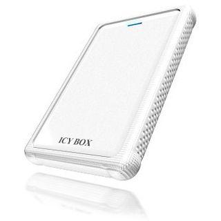 """2.5""""(6.35cm) Icy Box IB-223StU3+Wh SATA II USB 3.0 Weiß"""