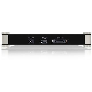 "5.25""(13.34cm) Icy Box IB-540StUS2-BL Slimline SATA/eSATA USB 2.0 Schwarz/Blau/Silber"