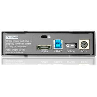 "3.5"" (8.89cm) Raidon GT1640-1S-SB3 SATA/eSATA USB 3.0 Schwarz"