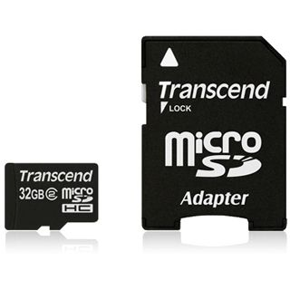 32 GB Transcend Standard microSD Class 2 Retail inkl. Adapter