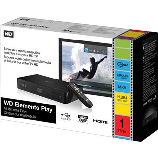 WD Mediaplayer Elements Play HDMI Schwarz 1000GB