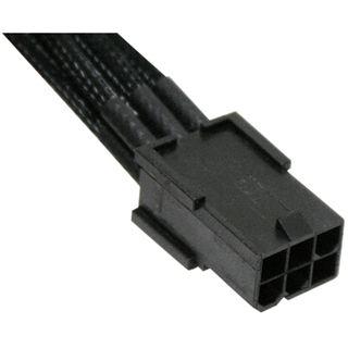 NZXT schwarzes 45cm 6-Pin Stromverbindungskabel für Grafikkarten (CB-6V-45)