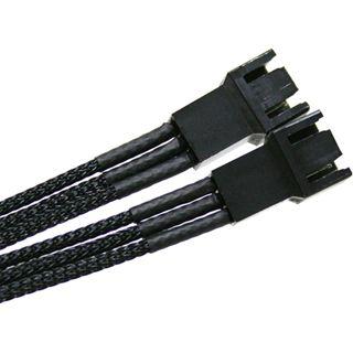 NZXT 30cm sleeved schwarzes Y-Kabel für 3-Pin Molex (CB-3P-Y)