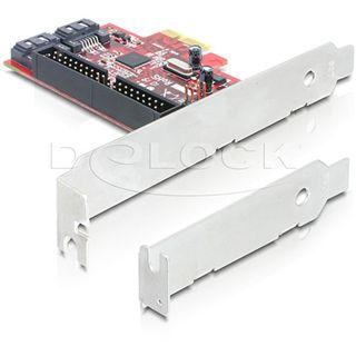 DeLock PCI Express > 2 x intern SATA 6Gb/s 1 x intern IDE ink. LowProfile Blende