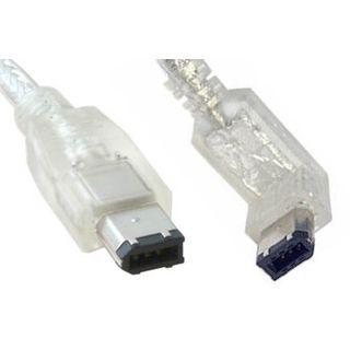 0.50m Good Connections FireWire400 Anschlusskabel gewinkelt unten 6pol Stecker auf 6pol Stecker Transparent