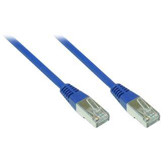 0.50m Good Connections Cat. 5e Patchkabel F/UTP RJ45 Stecker auf RJ45 Stecker Blau