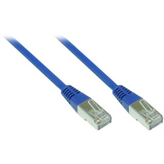 7.00m Good Connections Cat. 5e Patchkabel FTP RJ45 Stecker auf RJ45 Stecker Blau