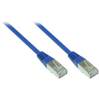 8.00m Good Connections Cat. 5e Patchkabel FTP RJ45 Stecker auf RJ45 Stecker Blau