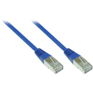 30.00m Good Connections Cat. 5e Patchkabel FTP RJ45 Stecker auf RJ45 Stecker Blau