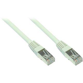 15.00m Good Connections Cat. 5e Patchkabel F/UTP RJ45 Stecker auf RJ45 Stecker Grau