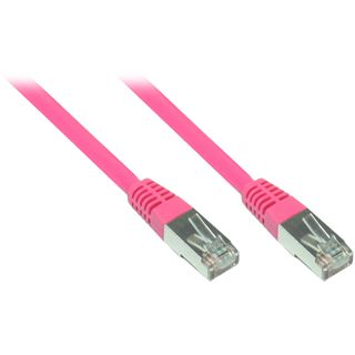 5.00m Good Connections Cat. 5e Patchkabel FTP RJ45 Stecker auf RJ45 Stecker Pink